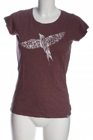 wijld T-Shirt rot-weiß Motivdruck Casual-Look