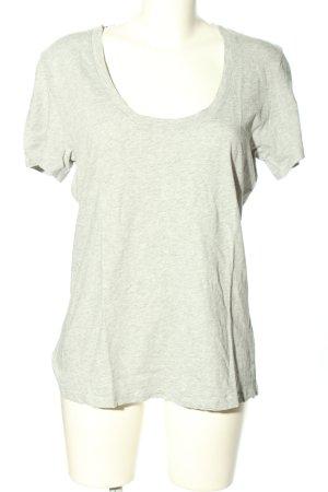 FRAME T-Shirt hellgrau meliert Casual-Look