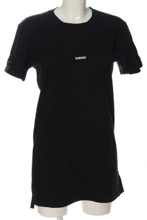 T-Shirt schwarz-weiß Motivdruck Casual-Look