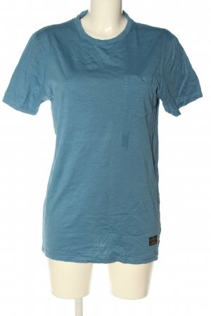 T-Shirt blau meliert Casual-Look