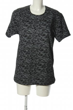 Oxcid T-Shirt schwarz-hellgrau meliert Casual-Look