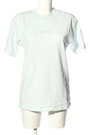 VAAD T-Shirt weiß-türkis Schriftzug gedruckt Casual-Look
