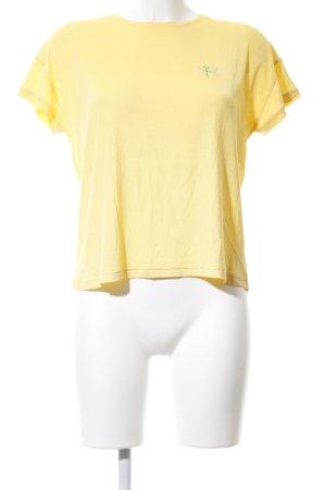 T-Shirt blassgelb Casual-Look