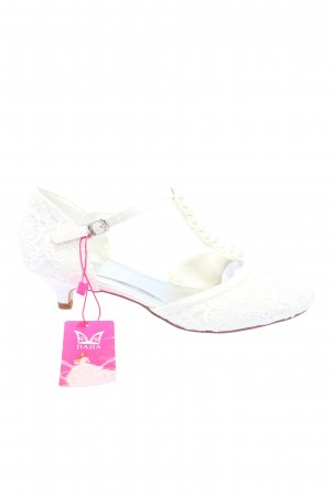jiajia T-Strap Pumps white elegant