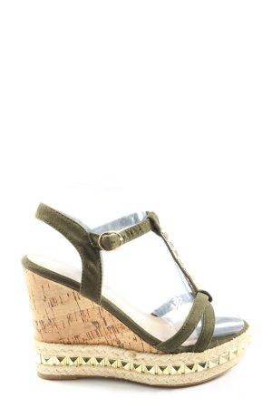 Sandales Salomé à talon haut noir-crème style décontracté