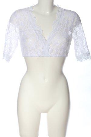 Barbara Schöneberger Blusa folclórica blanco elegante