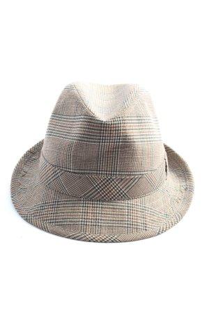 Folkloristische hoed geruite print casual uitstraling