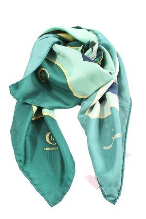 Chronoswiss Tradycyjna chusta zielony Abstrakcyjny wzór Elegancki