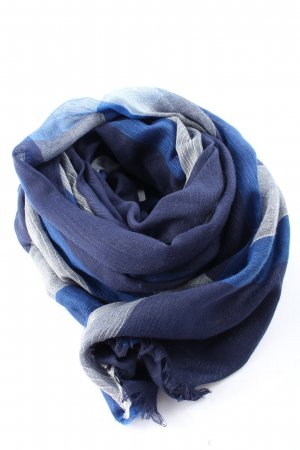 s.m.m Traditional Scarf blue-light grey casual look