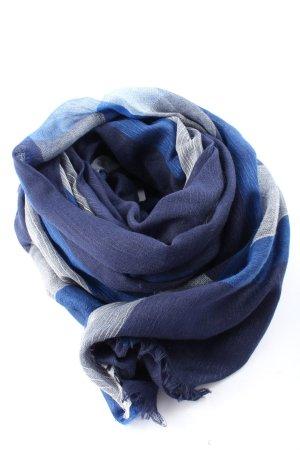 s.m.m Sciarpa tradizionale blu-grigio chiaro stile casual