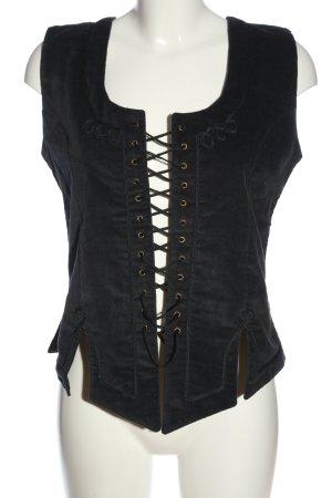 Leonardo Carbone Trachtenweste schwarz extravaganter Stil