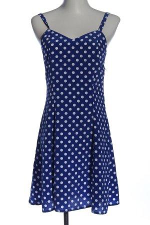 Trägerkleid blau-weiß Punktemuster Casual-Look