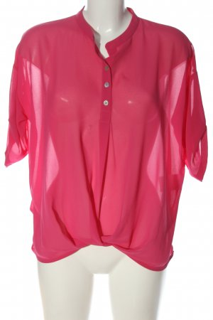 vlt's by valentina's Transparenz-Bluse rot Business-Look
