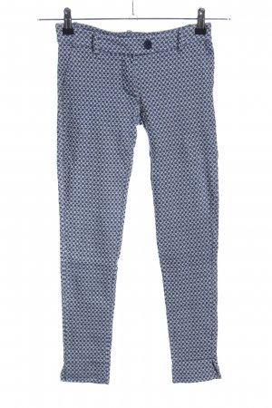 aNYplace Treggings blau-weiß abstraktes Muster Casual-Look