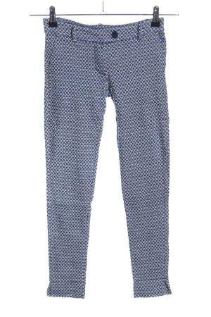 aNYplace Treggingsy niebieski-biały Abstrakcyjny wzór W stylu casual