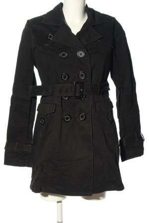 lady dutch Trenchcoat zwart casual uitstraling