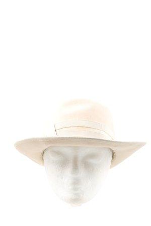 Chapeau feutre crème style d'affaires