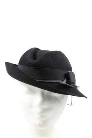 Chapeau feutre noir style décontracté