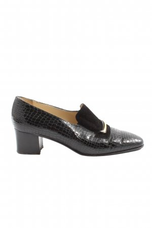 Napoleoni Loafers black animal pattern casual look