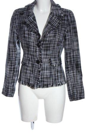 Tweed Blazer black-white weave pattern casual look