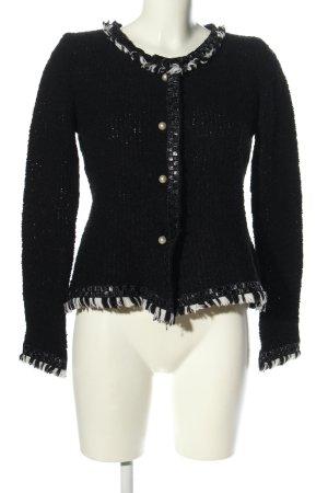 Tweed Blazer black weave pattern casual look
