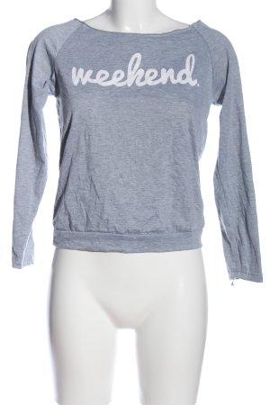 Boatneck Shirt light grey flecked casual look