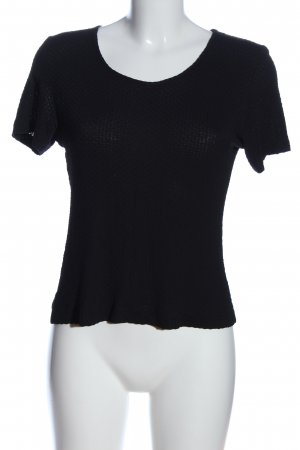 Boothalsshirt zwart gestreept patroon casual uitstraling