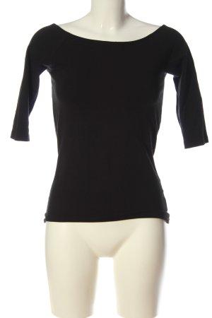 Boothalsshirt zwart casual uitstraling