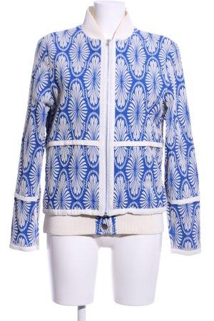 Übergangsjacke blau-creme Blumenmuster Business-Look