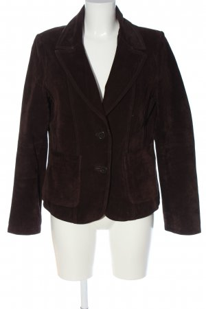 Leather Blazer brown business style