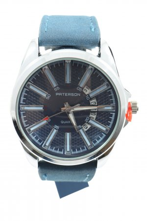 Paterson Watch With Leather Strap blue casual look