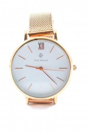 paul mcneal Watch With Metal Strap gold-colored elegant