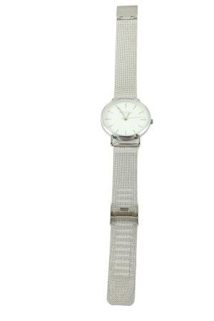 Uhr mit Metallband silberfarben Business-Look