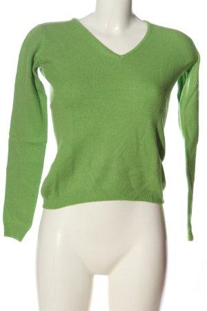 sadar V-Ausschnitt-Pullover grün Casual-Look