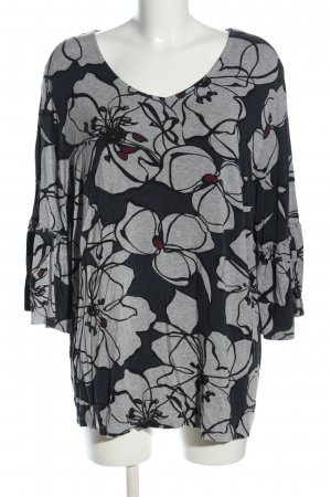 Thea V-Ausschnitt-Shirt Blumenmuster Casual-Look