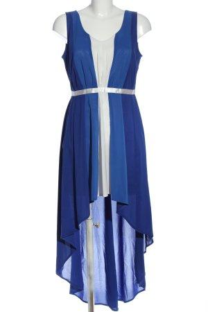 marlena Asymetryczna sukienka niebieski-biały Elegancki
