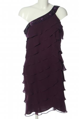 S L Fashions Vestido estilo flounce lila elegante