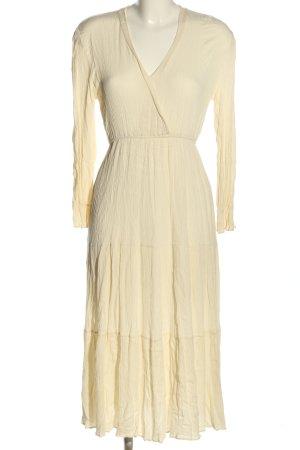 MNC Apparel Sukienka z falbanami kremowy W stylu casual