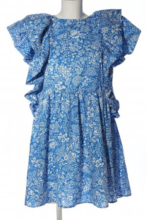 Flounce Dress blue-white allover print casual look