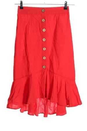 Spódnica z falbanami czerwony W stylu casual