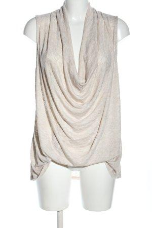 Koszulka z dekoltem woda w kolorze białej wełny W stylu casual