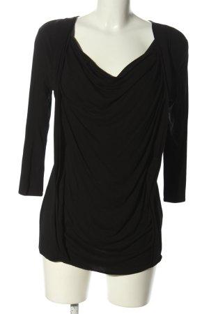 CeMe London Waterval shirt zwart casual uitstraling