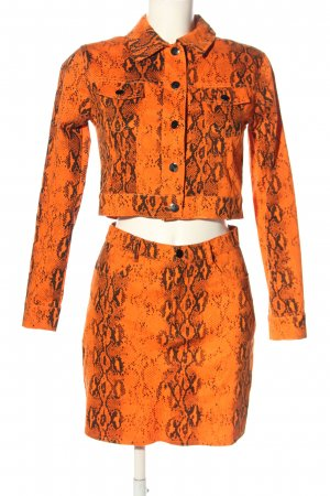 Miss Toxic Woven Twin Set light orange-black allover print party style
