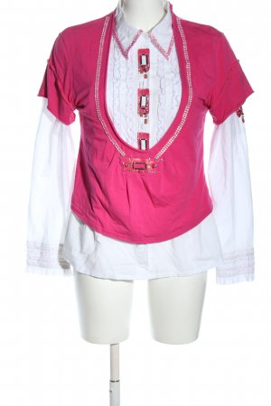 Le Kiwi Woven Twin Set pink-white casual look
