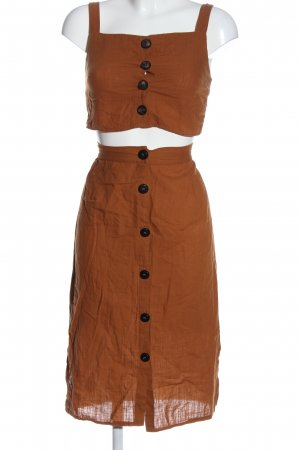 Woven Twin Set brown casual look