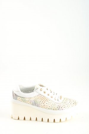 Wedge Sneaker white-natural white casual look