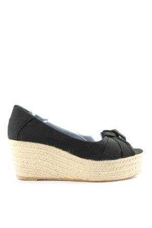 Glam walk Wedges Sandaletten schwarz Casual-Look