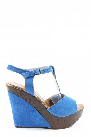 Lola Peres Wedge Sandals blue casual look