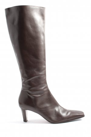 laura camino Wide Calf Boots brown casual look