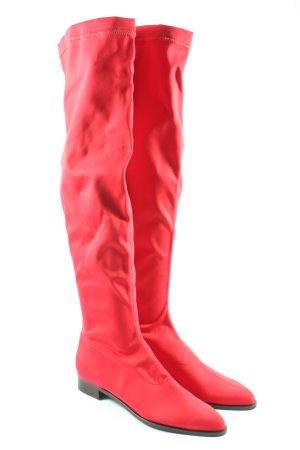 gomma Bottes à tige large rouge style décontracté